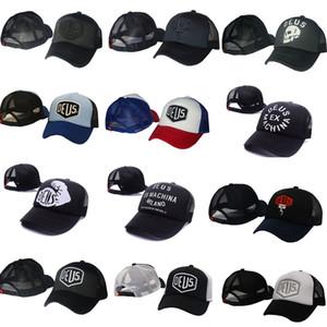 Casquette Deus Ex Machina Baylands Trucker Snapback noire MOTO Maille baseball hat sport palace drake panneau hip hop dieu casquette casquette pour hommes