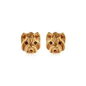 10 Pairs New Fashion Animal Alloy With Enamel Stud Earrings Lovely Puppy Dog Stud Earrings for Summer Jewelry Women Gifts