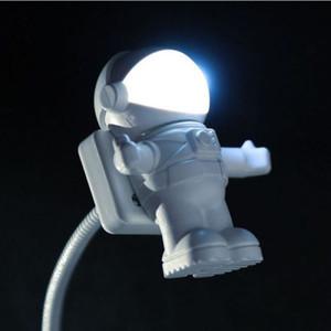 참신 LED 우주 비행사 USB LED 야간 조명은 창조적 인 야간 조명 우주 비행사 USB 밤 빛의 자리를 전환