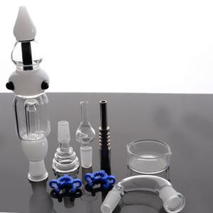 vidrio de tuberías de agua con titanio Consejos de uñas Dabber plato por mayor bongs de vidrio de 14 mm puros conjunta