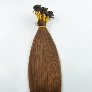 # 4 Brun foncé brésilien cheveux raides u pointe extension de cheveux 100g 100s pré bonded extensions de cheveux