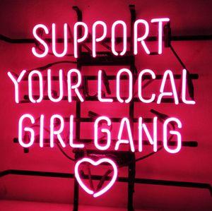 """17 """"X14""""지원 귀하가 거주하는 지역의 GIRL GANG 손수 리얼 유리 네온 가입 맥주 바, 클럽 등 홈 인테리어"""