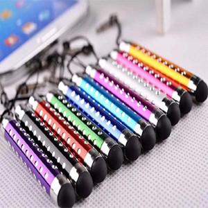 Flexibler Crystal Diamond Stylus Kapazitiver Touch Pen für das Smartphone Samsung Galaxy S4 Note 3 Mit Kopfhörer einziehbar