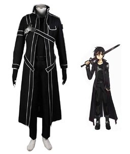 Malidaike Anime Arte Espada en línea Kazuto Kirigaya Kirito Anime traje de combate traje cosplay