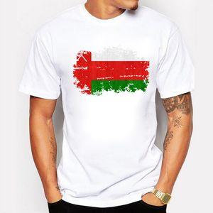Nuovo 2017 estate Nostalgic Style Oman National Flag Design T Shirt uomo di alta qualità Top Hipster Tees Oman