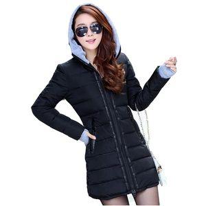 Großhandel Frauen Winter Mode Daunen Baumwolle Outwear Jacke Slim Parkas Damen Mantel plus Größe L-XXXL C020