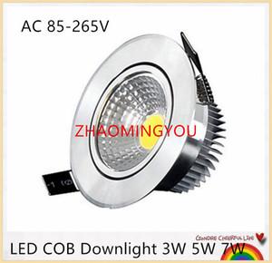 YON 20PCS Super Bright Dimmerabile Led luce di downlight COB Plafoniera 3W 5W 7W LED da incasso a soffitto Luci Illuminazione da interno