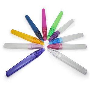Pasta de Lixa de vidro com Protective Carry Hard Manicure Tubo Ferramenta Pedicure 10 Cores NF014S FRETE GRÁTIS