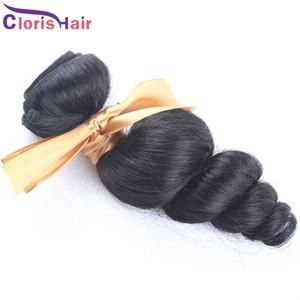 En oferta 1 paquete brasileño Loose Body Wave pelo barato flojo rizado Brazillian Remi extensiones de cabello humano Natural negro al por mayor 12-28