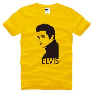 Yeni Tasarım Elvis Presley T Shirt Erkekler Pamuk Kısa Kollu Baskılı erkek T-Shirt Yaz Tarzı Erkek Müzik Tişörtlerin Hayranları Giyim