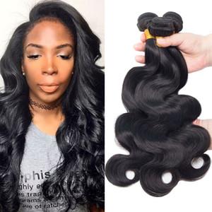 Body Vague Raw Virgin Hair 3Pcs Lot Double Drawn Weaves non transformé humide onduleux de cheveux humains Weave Cheap Indien Malais Pérou Brésil