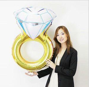 43 дюймов подарок на день Святого Валентина бриллиантовое кольцо воздушный шар 2017 Новая мода ну вечеринку свадебные украшения бриллиантовое кольцо воздушный шар сделать предложение