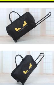 Cartoon Zugstange Reisetaschen Muster gedruckt Oxford Tuch Gepäck Rucksack Reisetaschen Online-Shopping Groß-und Einzelhandel