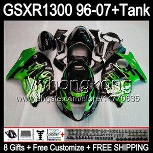 8gift Пламя GSXR1300 для Suzuki Hayabusa 98 96 97 99 07 13HM1 GSXR Зеленый 01 1300 GSXR1300 GSX R1300 02 03 04 05 06 00 Зеленый Обтекатель В ESRC