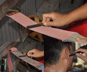 Homens Durável Dupla Correia De Couro Cinto De Barbear Strap Para Barbeiro Em Linha Reta Lâmina De Barbear Afiação Necessário Stropping Couro