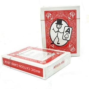 Бесплатная доставка карт-мультфильмов мультфильм волшебные карты палуба магия игральные карты фокусы крупным планом улица фокусы головоломки игрушки подарок