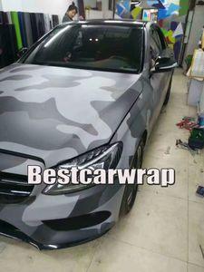 Macchie di grandi dimensioni Nero Grigio Camo Vinile Car Wrap Con bolla d'aria Free Tumbler wrap cover sticker skin dimensioni 1.52x10m / 20m / 30m