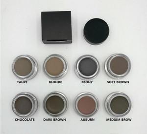 2017 Nuevo Eyebrow Pomade Enhancers Maquillaje impermeable Crema para cejas 8 colores con paquete al por menor DHL