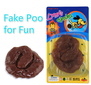 Bateau libre 10 pièces drôle faux jouet de poo merde collante merde fausse géante drôle tour astuce blague gag jouet OPP sac / paquet blister
