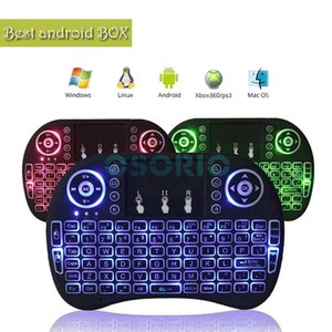 Colorful Rii I8 Backlit 2.4GHz Wireless Mouse Gaming Keyboard colorful Backlight Remote Control for S905X S912 Android TV Box T95 X96 Mxq