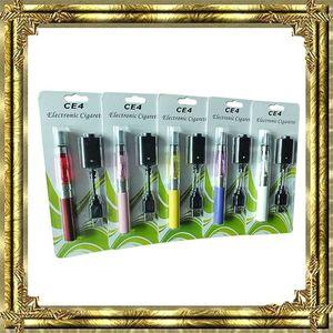 Hot CE4 ego starter kit CE4 Electronic Cigarette Blister kits e cig 650mah 900mah 1100mah EGO-T maletín de blister de batería Clearomizer