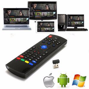 Air Fly Mouse MX3 안드로이드 TV 박스 용 2.4GHz 무선 스마트 키보드 원격 제어 IR