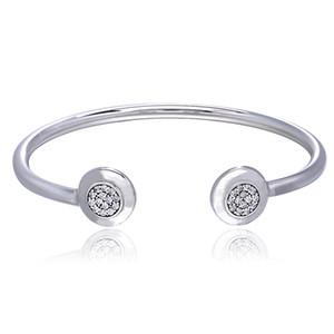 2017 Europa Beliebte 925 Sterling Silber Armband Armreif Für Frauen Modeschmuck Silber Hochzeit Armreif Mit Zirkon Großhandel