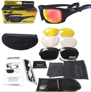 hochwertige Rollbar Terrian Ballistic Sonnenbrille, polarisierte 4 Linsen Schutzbrille mit Original Case, taktische Armee Eyeshie Not Ess Armbrust ICE