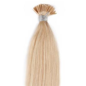 613 Loira eu furar i-ponta extensões de cabelo Humano em linha reta cabelo humano brasileiro extensões de cabelo pre-bonded 50 gramas Em Estoque