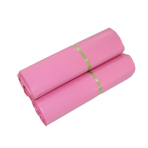 25x35cm Pink poly mailer shipping plastic packaging bags products mail by Courier storage supplies mailing self adhesive package pouch Lot
