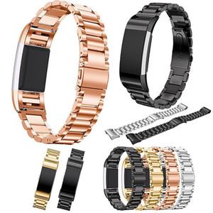 Banda de lujo de acero inoxidable clásico para Fitbit Charge 2 correa de pulsera inteligente para Charge2 Bandas de reloj
