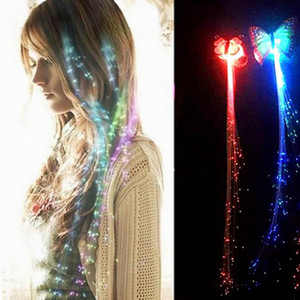 Clip mariposa LED Party Up Light luminoso de la horquilla de decoración trenza de destello del pelo Glow Light-Up Juguetes resplandor del centelleo del pelo LED Show Flash Party