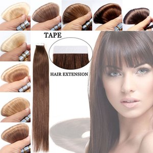 20 PCS 실키 스트레이트 헤어 익스텐션 브라질 헤어 테이프 스킨 베타 Virgin Virgin Human Hair Extensions