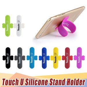 Universal portátil toque u suporte de silicone suporte de telefone celular montagens para iphone samsung htc sony telefones celulares tablets