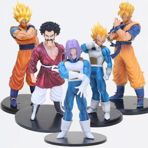 17cm -32cm Dragon Ball Z Figura Son Goku gohan Vegeta troncos Hercule Mark resolución de soldados vol.5 Figura de acción modelo de juguete