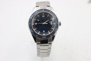 럭셔리 패션 클래식 브랜드 마스터 시리즈 233.90.41.21.03.002 고품질 스틸 시계 밴드, 파란색 시계 반지 바다 다이빙 자동 기계 m