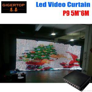 Controlador de modo de alta calidad P9 5M * 6M LED Vídeo Cortina PC tricolor 3IN1 LED Vídeo cortina Contextos de la boda Para