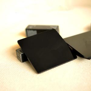 Lettere delicate del regalo di VIP Lettere delicate di colore nero sottobicchieri acrilici alta luminosità isolamento termico tazza pad tazza di caffè opaco MOQ 2 pz