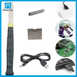 Mini Portable USB 5V 8W Electric Powered Soldering Iron Pen Tip With Touch Switch Quick Heating Welding Tools