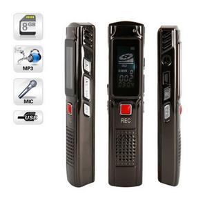 تسجيل طويل 8GB الصلب تسجيل ستيريو الإملاء الصوت الرقمي مصغرة مسجل صوت تسجيل صوتي سماعة صوت مسجل MP3 لاعب