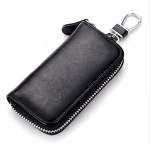 جلد البقر الرجال النساء حقيبة السيارة مفتاح المحفظة متعدد الوظائف مفتاح القضية الأزياء مدبرة حاملي 6 خواتم مفتاح