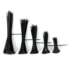 셀프 락킹 나일론 케이블 넥타이 지퍼 넥타이 블랙으로 플라스틱 지퍼 와이어 타이 랩 스트랩 착용 4 ''6 ''8 ''10 ''12 ''