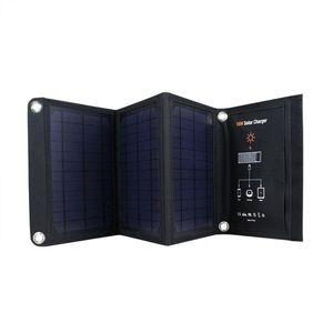 SunPower 휴대용, 태양 전지 패널, 2 포트 USB 고효율 태양 전지 패널 태양열 배터리 충전기와 KY - 16W 태양열 충전기