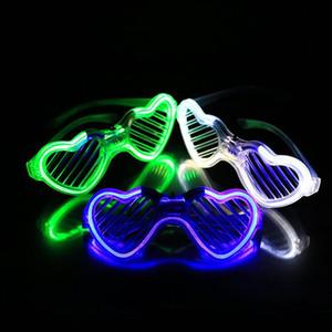 200PCS Blinking LED Blind Shutter Eye glasses Party Light Up Flashing Multi Style wedding favors and gifts