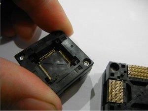 ENPLAS QFP80PIN IC TEST SOCKET OTQ-80S-0.5-001 SOKET 0,5 MM YUVARLAK BURN