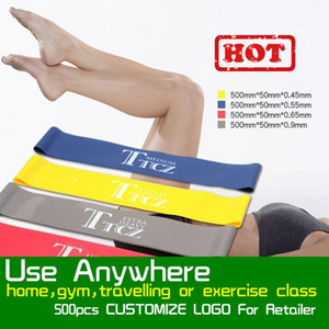Tension Resistance Band Pilates Yoga-Widerstand-Bänder Gummi Fitness-Schleife Seil Stretch Bands Crossfit elastischen Widerstand Band Bodybuilding