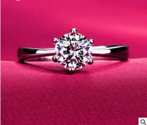 Mais barato chapeamento de platina ms roundness amor anel de diamante micro anel de diamante com alto anel de diamante de carbono dois estilos pode escolher