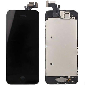 LCD + Touch Screen Glass Digitizer Assembly w Small Parts Black For iPhone 5