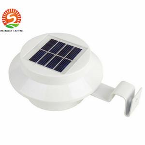 Bahçe için güneş Işıkları güneş led duvar aydınlatma açık Otomatik ışık Güneş çatı lambası IP55 3 leds DHL ücretsiz kargo