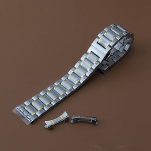 Cinturini per orologi con cinturino in acciaio inossidabile di ricambio Cinturino cinturino per cinturino in acciaio inossidabile solido collegamenti argento e oro 14 15 16 17 18 19 20 21 22mm